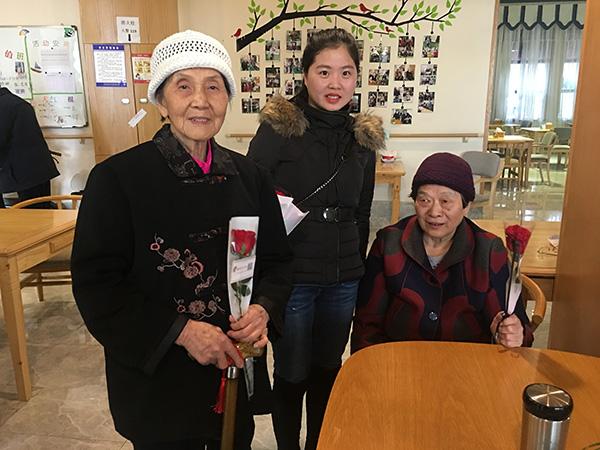 """中建三局二公司预祝""""一暄康养""""的奶奶们三八节快乐 (7)"""