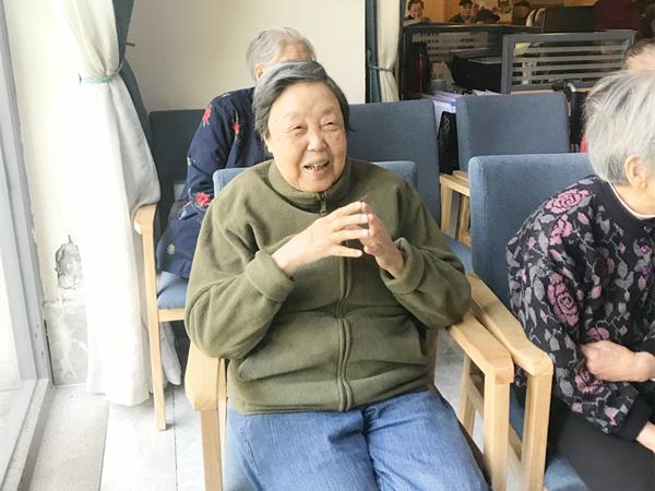 成都養老院一暄康養開心的奶奶