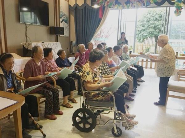 成都养老院|一暄康养为庆祝建党97周年举办红歌会|奶奶们的合唱