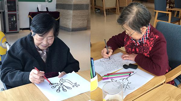 成都金牛区养老院老人透露涂色的技巧和作用3