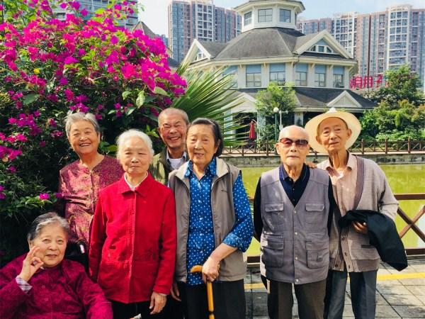 成都养老院一暄康养组织爷爷奶奶们在海洋公园秋游