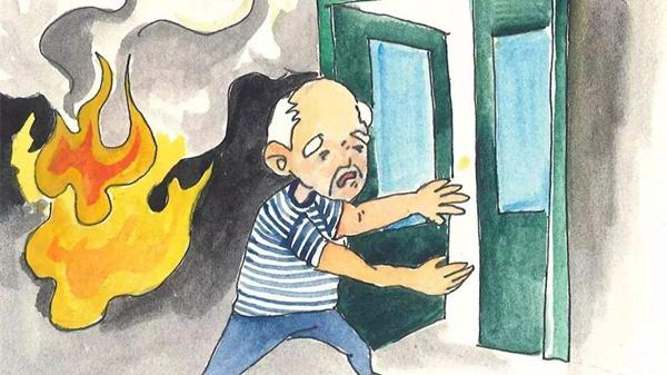 成都养老院一暄康养分享急救知识之高层火灾逃生篇-贸然打开房门