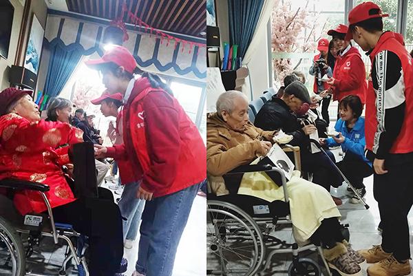 四川文化产业职业学院走进成都养老院为老人庆生6