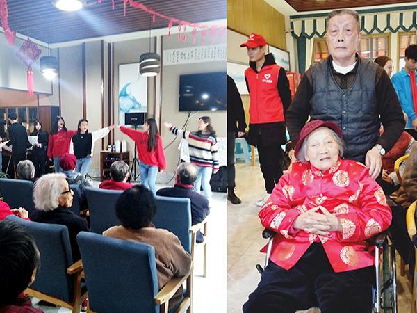 四川文化产业职业学院走进成都养老院为老人庆生4