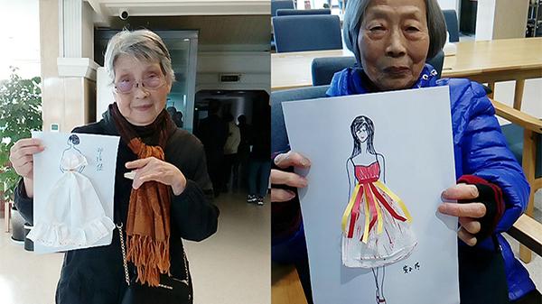 成都金牛养老院老人变身高级时装设计师 3