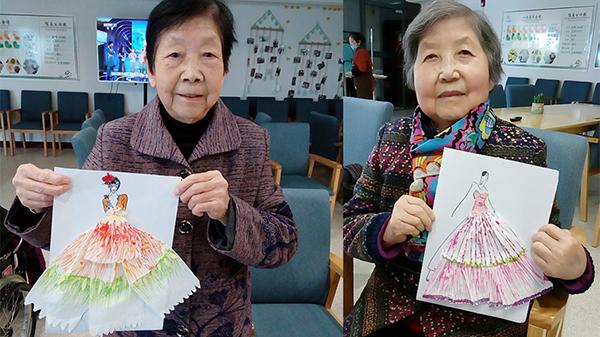 成都金牛养老院老人变身高级时装设计师 4