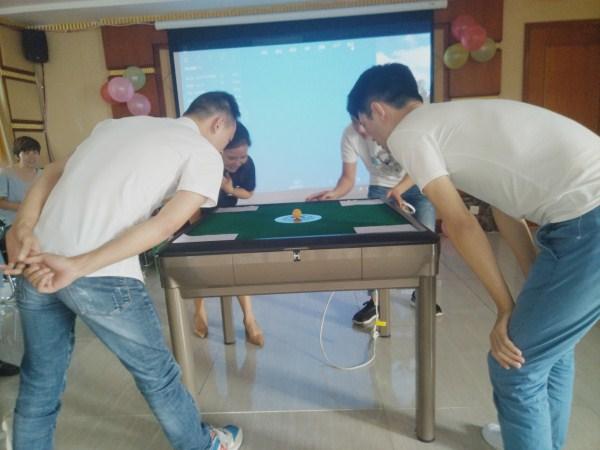 成都养老院一暄康养中秋团建活动-趣味乒乓球游戏
